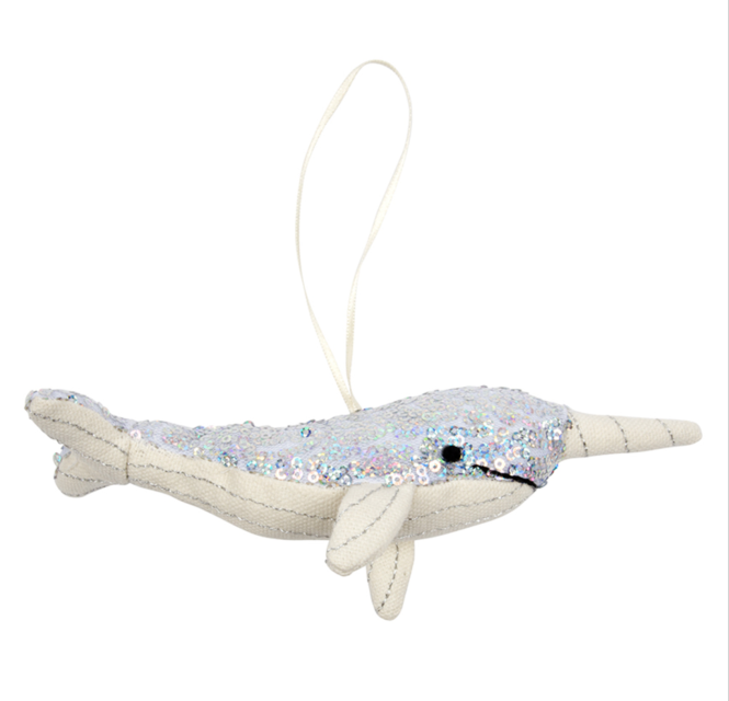 meri meri christmas decoration narwhal